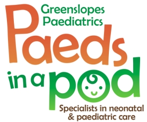 Greenslopes Paediatrics - paeds in a pod Logo